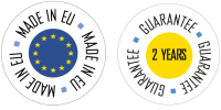 Guarantee 2 years - made in EU detoure