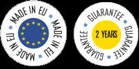 Guarantee 2 years - made in EU detoure