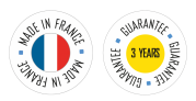 Made in france - guarantee 3 years
