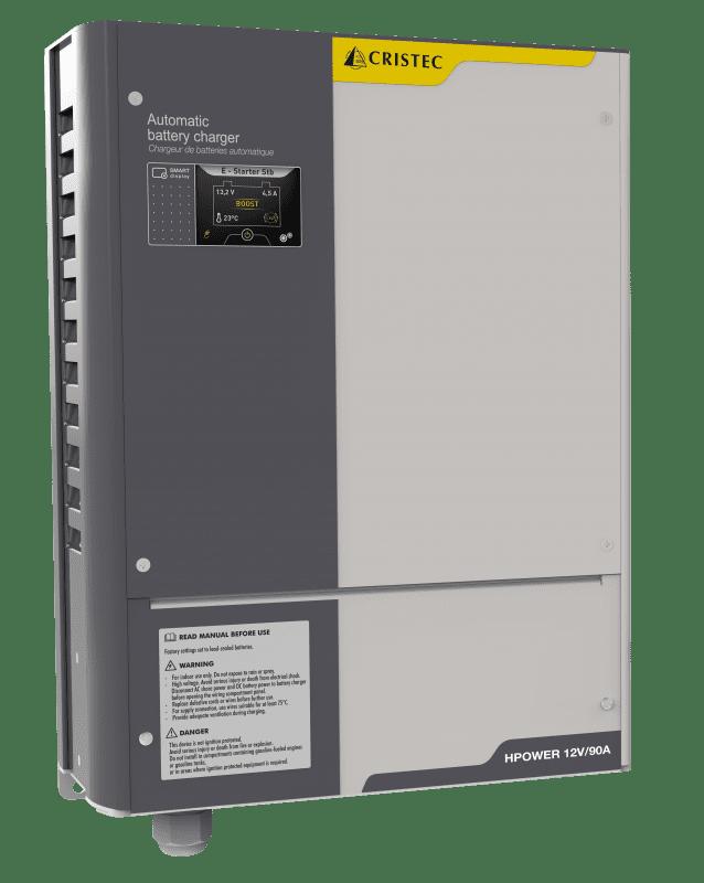 Cargador de bateríasHPOWER_12V-90A pantalla