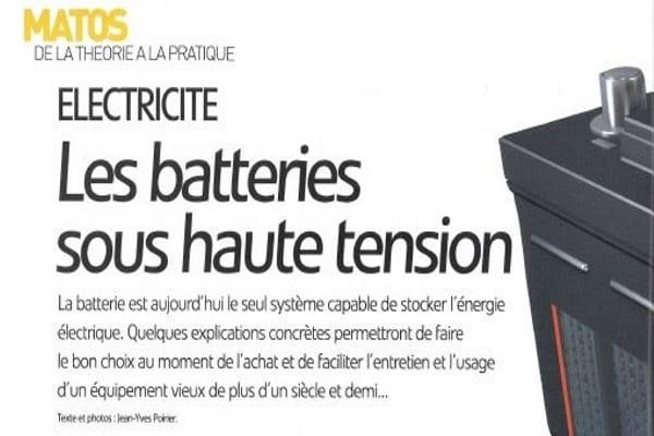 Article Matos électricité les batteries sous haute tension